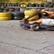 Qualifying rounds of children's sport races - Stock Photo