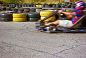 Qualifying rounds of children's sport races — Stock Photo