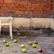 Royalty-Free Stock Photo: Apples scattered on the floor