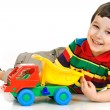 Little boy with toy car — Stock Photo