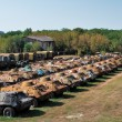 Stock Photo: Accumulation of military equipment