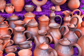 Pottery in the souvenir shop — Stock Photo