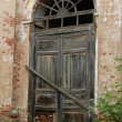 Locked Door of Abandoned Church — Stock Photo
