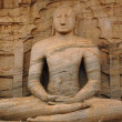 Stock Photo: Seated BudhStatue