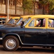 Cabs at the Taxi Stand in India — Stock Photo