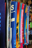 Towels at the Beach Gift Shop — Stock Photo