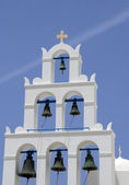 Bell Tower on Island Thira — Stock Photo
