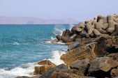 Breakwater in Greece — Stock Photo