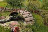 Garden Arched Bridge — Stock Photo