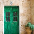 Stock Photo: Green door