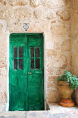 Green door — Stock Photo