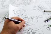 Engineer's work — Foto Stock