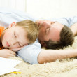 Father with son sleeping — Stock Photo #3209010