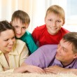 Parents with sons — Stock Photo