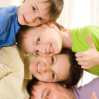 Parents play with their sons — Stock Photo #3209203