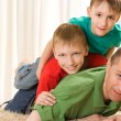 Two brothers and his father — Stock Photo #3209238
