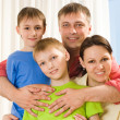 Parents with their children — Stock Photo