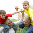 Stock Photo: Family fun to play