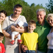 Large family in the park — Stock Photo #3209366