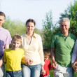 Stock Photo: Large family in the park