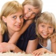 Royalty-Free Stock Photo: Mom is with  daughters
