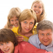 Happy family of five — Stock Photo #3209408