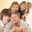 Stock Photo: Happy family of five