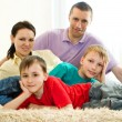 Happy parents with children — Stock Photo