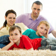 Happy parents with children — Stock Photo #3209547