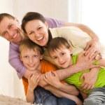Family on a white — Stock Photo #3209560