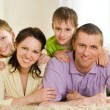 Stock Photo: Family on a white