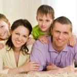 Family on a white — Stock Photo