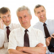 Three businessmen working — Stock Photo