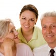 Elderly couple with a daughter — Stock Photo #3209705