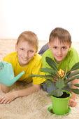 çocuklar halı — Stok fotoğraf