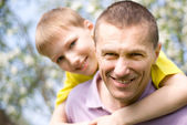 Happy father with his son — Stock Photo