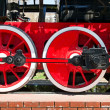 Stream train wheels — Stock Photo