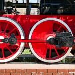 Stream train wheels — Stock Photo