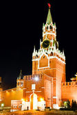 Spasskaya tower at night — Stock Photo