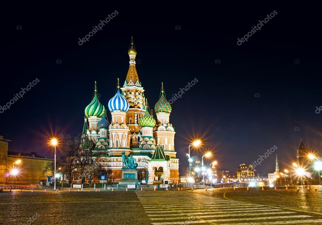 Red Square. Saint Basil's Cathedral. Moscow. Russia. — Stock Photo #3321976