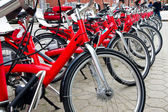 Row of the bicycles — Stock Photo