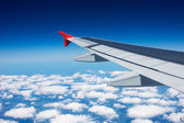 Wing of the airplane — Stock Photo