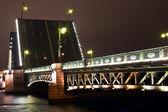 Dvortsovy bridge in St. Petersburg — Stock Photo
