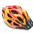 Royalty-Free Stock Photo: Orange bicycle helmet