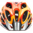 Orange bicycle helmet - Stock Photo