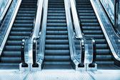 Escalator in modern interior — Stock Photo