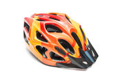 Orange bicycle helmet — Stock Photo