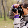 Photographer on the nature - Stock Photo
