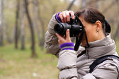 Fotograaf op de aard — Stockfoto