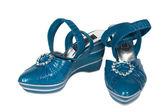 Dark blue female shoes — Stock Photo